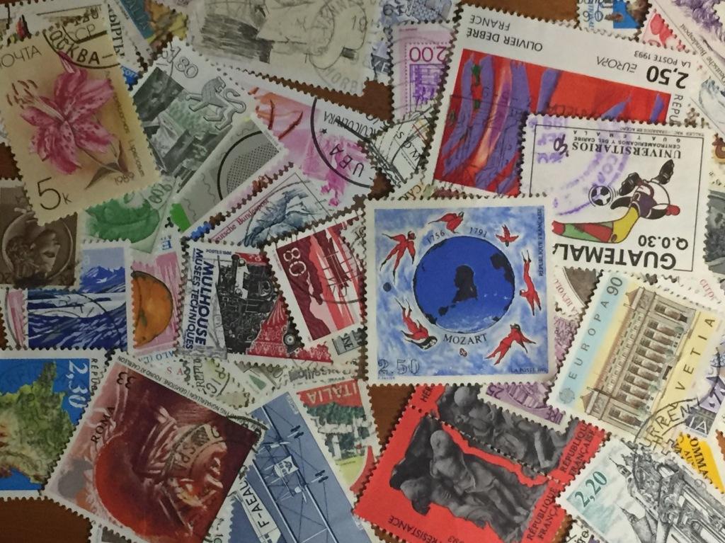 Collection de timbres. Philatélie