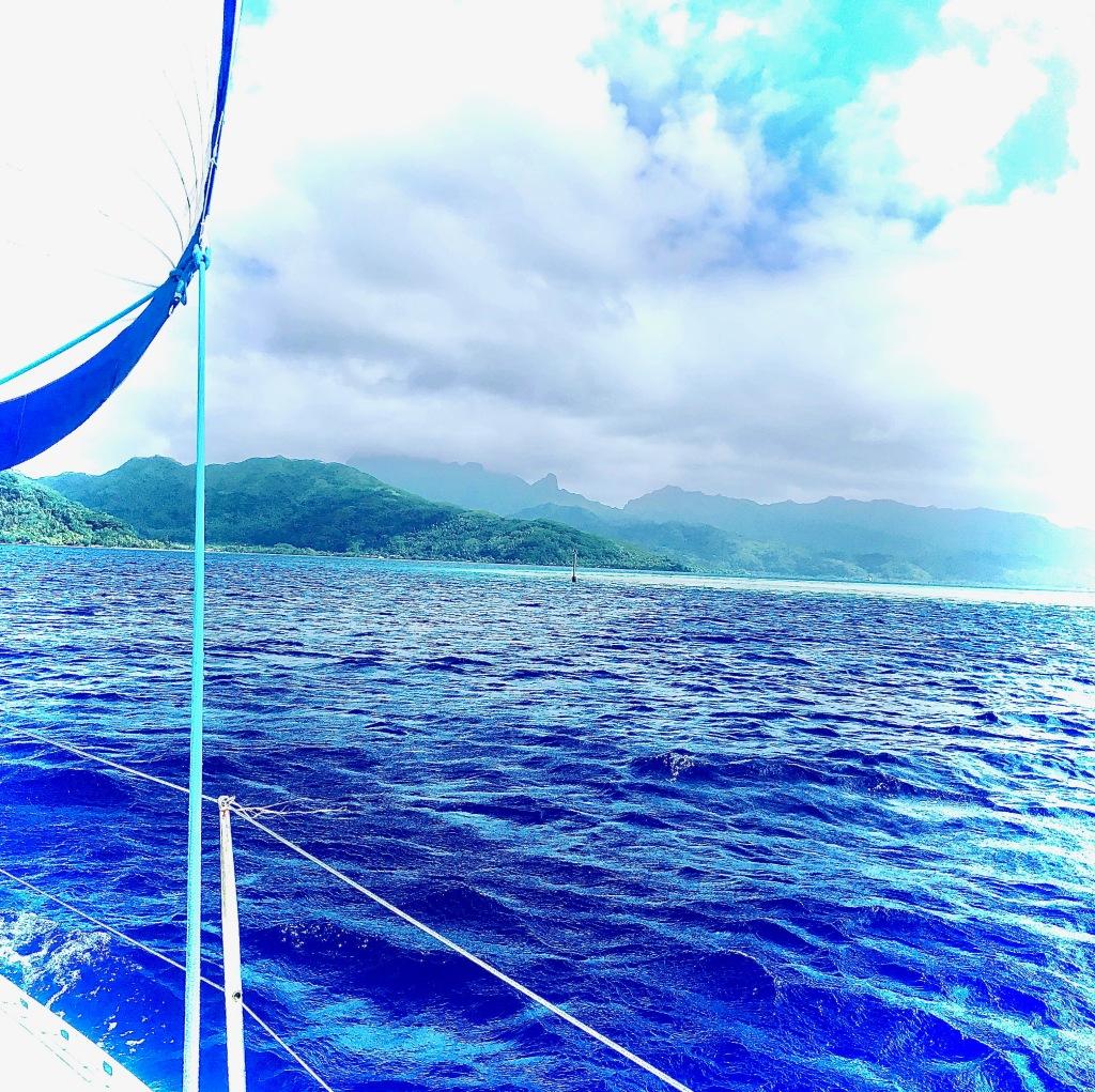Navigation, voyage en voilier, arrivée à Raiatea